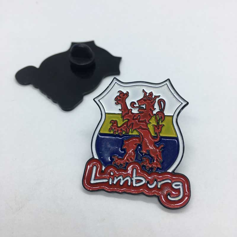 Pin Limburg Zwart, Wit Geel Blauw